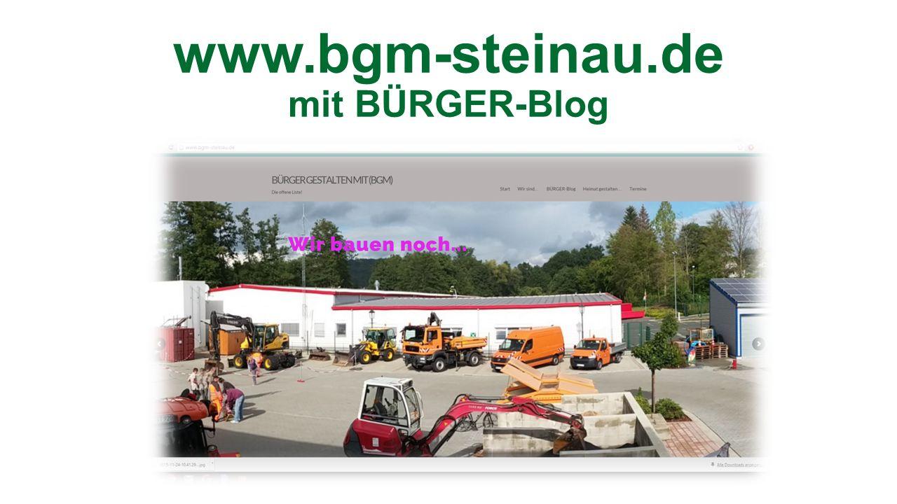www.bgm-steinau.de mit BÜRGER-Blog