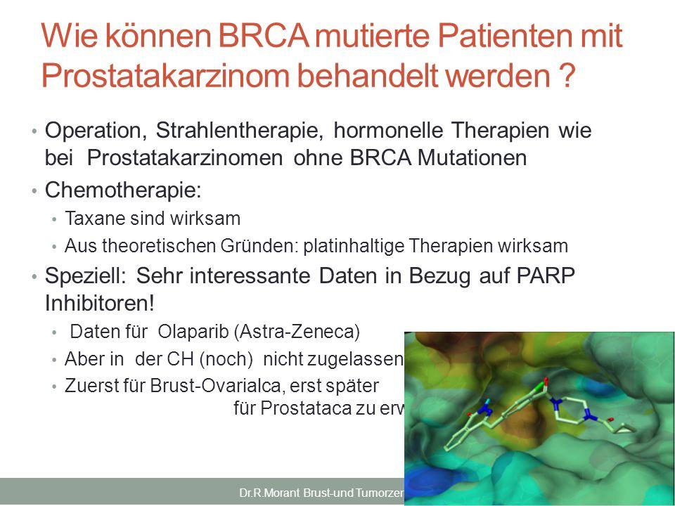Wie können BRCA mutierte Patienten mit Prostatakarzinom behandelt werden ? Operation, Strahlentherapie, hormonelle Therapien wie bei Prostatakarzinome