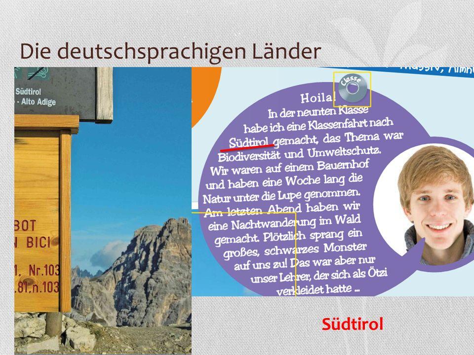 Die deutschsprachigen Länder Südtirol