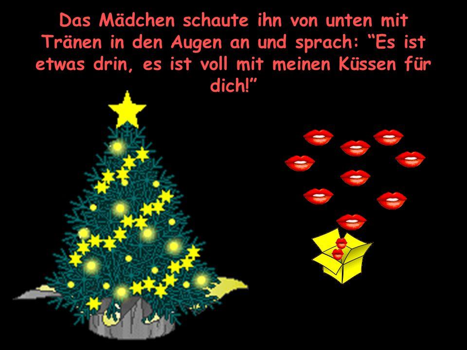 Er sprach in hartem Ton: Weisst du denn nicht, dass wenn man schon ein Geschenk macht, auch etwas drin sein muss? ?
