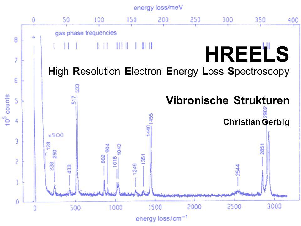 HREELS High Resolution Electron Energy Loss Spectroscopy Vibronische Strukturen Christian Gerbig