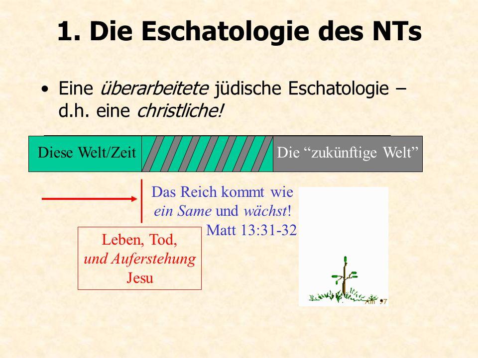 1. Die Eschatologie des NTs (von M.
