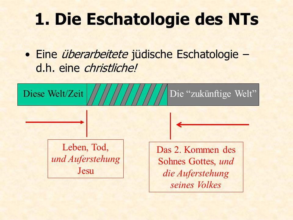 1. Die Eschatologie des NTs Eine überarbeitete jüdische Eschatologie – d.h.