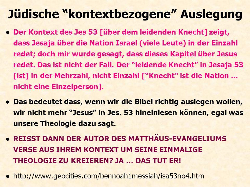 """1. Missionare und Anti-Missionare """"Ich könnte ein ganzes Buch darüber schreiben, und zeigen wie das Neue Testament Verse aus dem Kontext reisst... Der"""