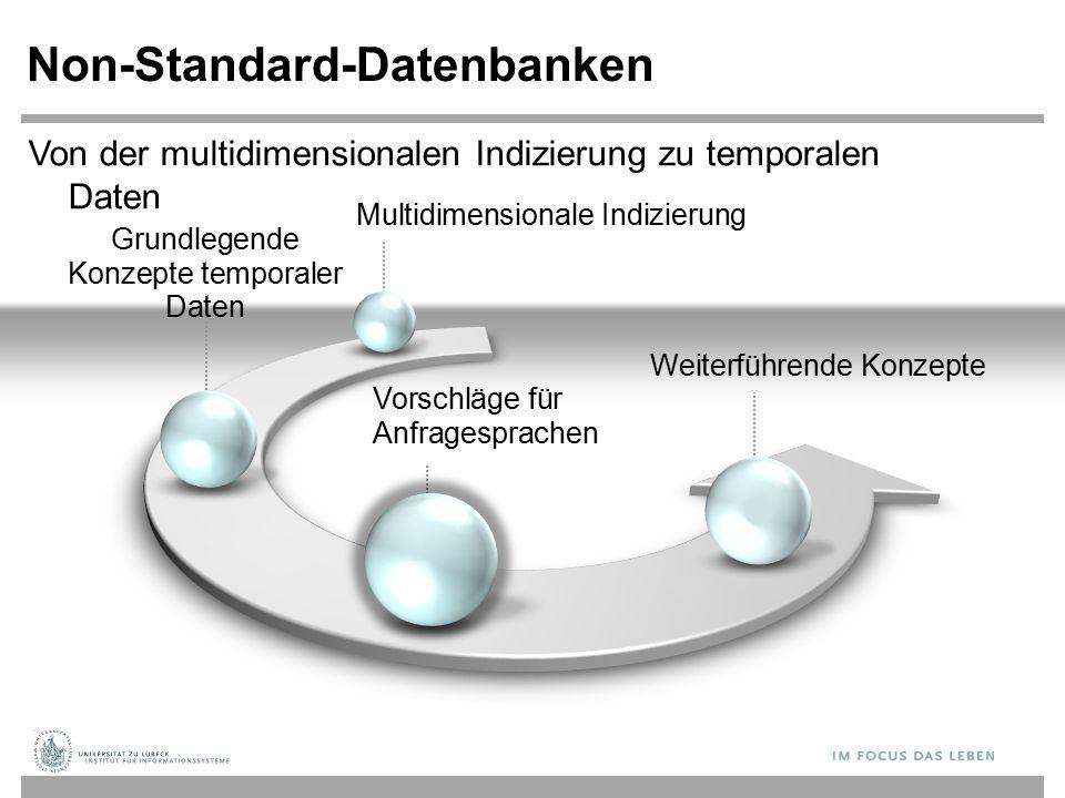 Grundlegende Konzepte temporaler Daten Non-Standard-Datenbanken Vorschläge für Anfragesprachen Weiterführende Konzepte Von der multidimensionalen Indi