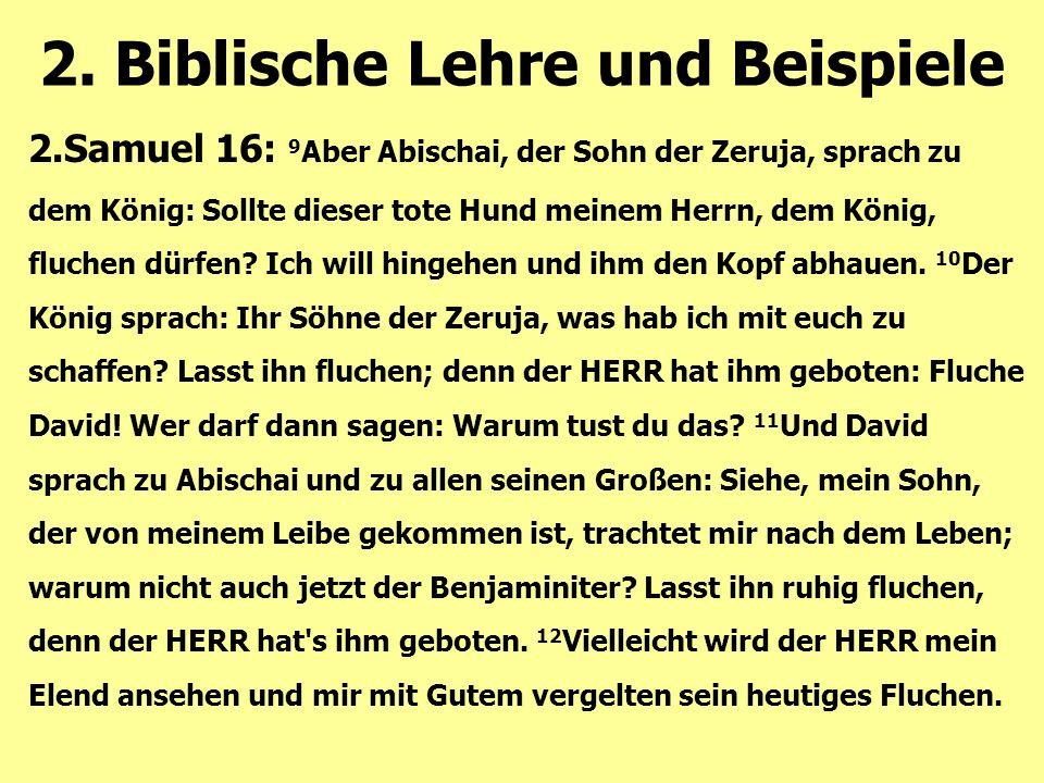 2.Samuel 16: 9 Aber Abischai, der Sohn der Zeruja, sprach zu dem König: Sollte dieser tote Hund meinem Herrn, dem König, fluchen dürfen? Ich will hing