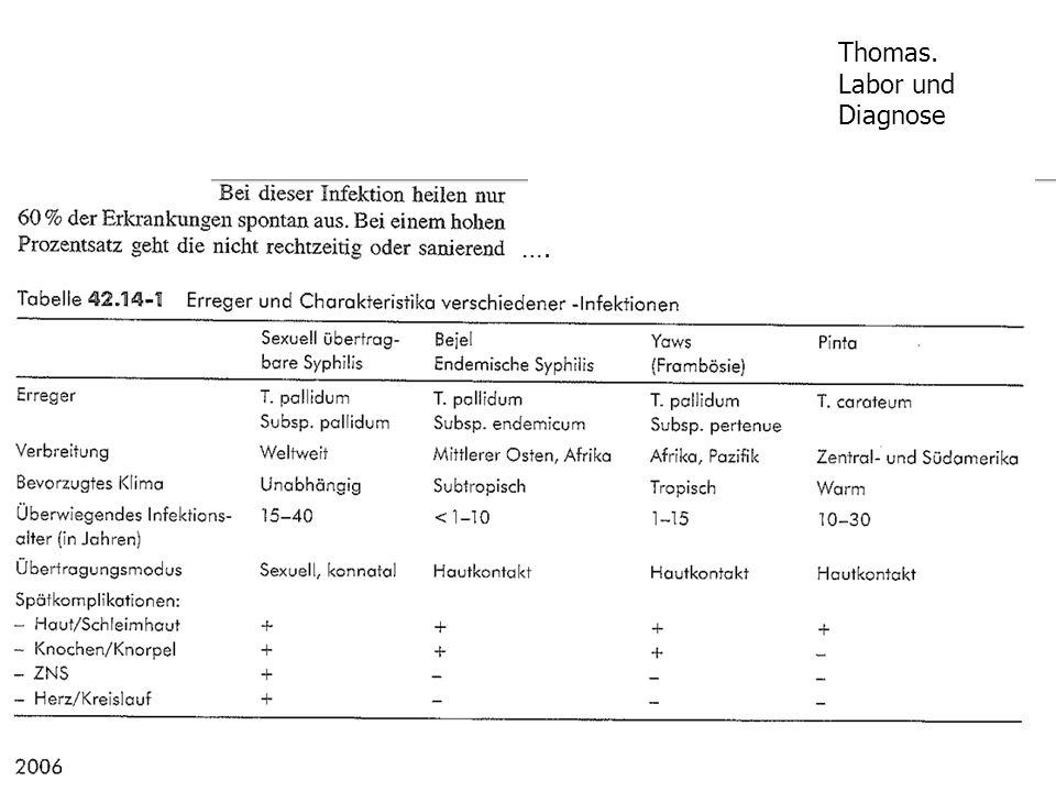 Thomas. Labor und Diagnose ….