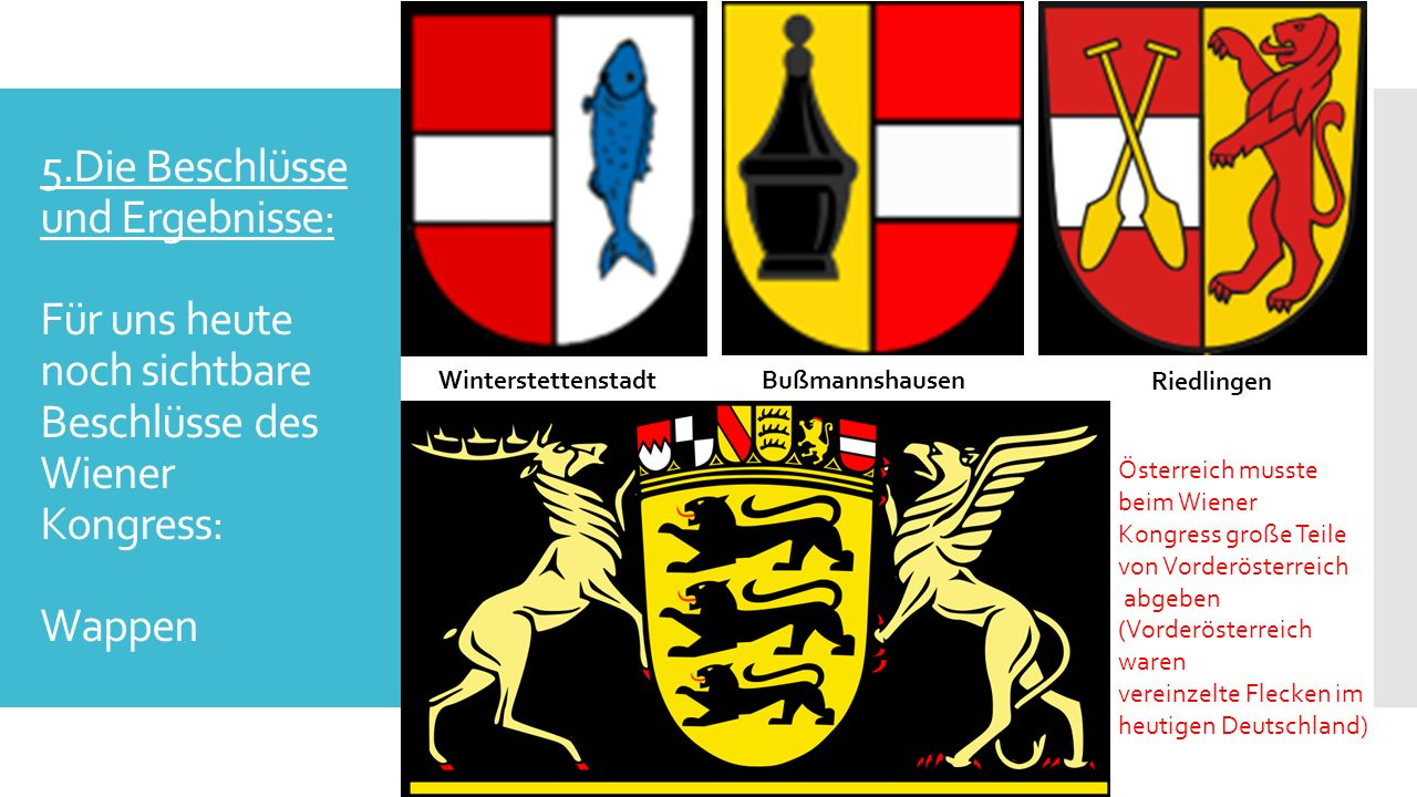 Quellen  Internet: Internet:  http://de.wikipedia.org/wiki/Bourbon_%28Begriffskl%C3%A4rung%29 http://de.wikipedia.org/wiki/Bourbon_%28Begriffskl%C3%A4rung%29  http://de.wikipedia.org/wiki/Koalitionskriege http://de.wikipedia.org/wiki/Koalitionskriege  http://de.wikipedia.org/wiki/Wiener_Kongress http://de.wikipedia.org/wiki/Wiener_Kongress  http://www.geschichte-abitur.de/restauration-und-vormarz/chronologie-2 http://www.geschichte-abitur.de/restauration-und-vormarz/chronologie-2  http://www.geschichtsverein-koengen.de/Restauration.htm http://www.geschichtsverein-koengen.de/Restauration.htm  http://www.preussenchronik.de/ereignis_jsp/key=chronologie_005140.html http://www.preussenchronik.de/ereignis_jsp/key=chronologie_005140.html  http://www.staatsvertraege.de/Frieden1814-15/wka1815-i.htm http://www.staatsvertraege.de/Frieden1814-15/wka1815-i.htm  Bücher:  Duden: Abi wissen Geschichte; Dudenverlag; Mannheim-Zürich; Duden 2011 D C B A ; bibliographisches Institut GmbH, Dudenstraße 6, 68167 Mannheim