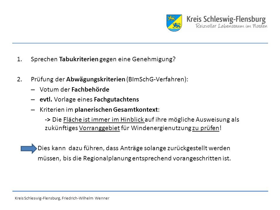 Verfahren der Landesplanung zur Steuerung der Windenergienutzung: Festlegung harter und weicher Tabukriterien (z.