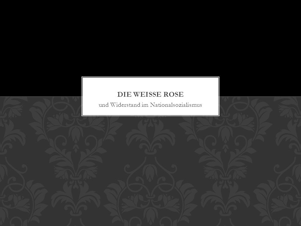Mythos: alle Deutschen unterstuetzten die Nazis Wahrheit: viele haben sie freiwillig unterstuetzt, einige haben sie zwanghaft unterstuetzt, aber einige haben Widerstand geleistet es gab viele mutige Widerstandsbewegungen unter der Nazidiktatur WIDERSTANDSGRUPPEN
