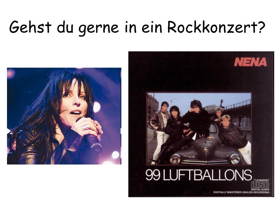 Gehst du gerne in ein Rockkonzert?