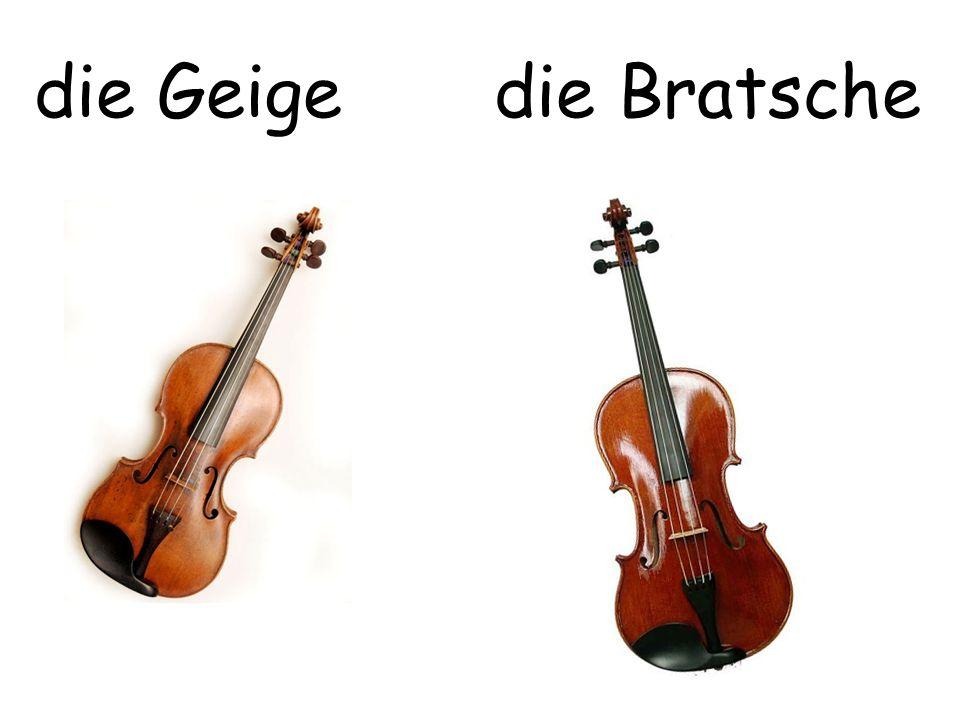 die Geige die Bratsche