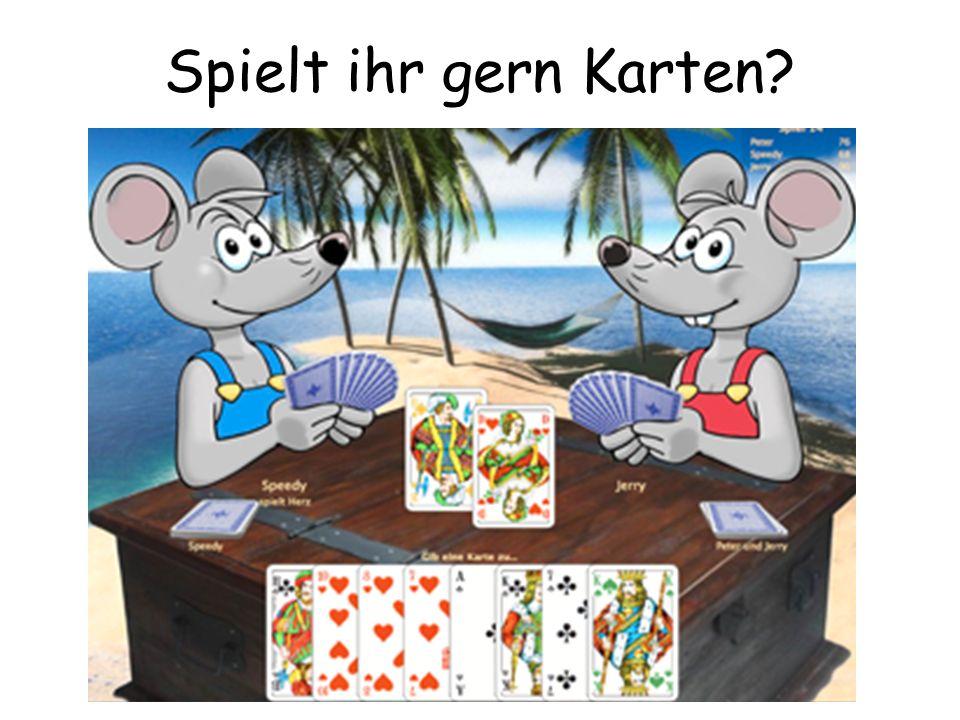 Spielt ihr gern Karten?