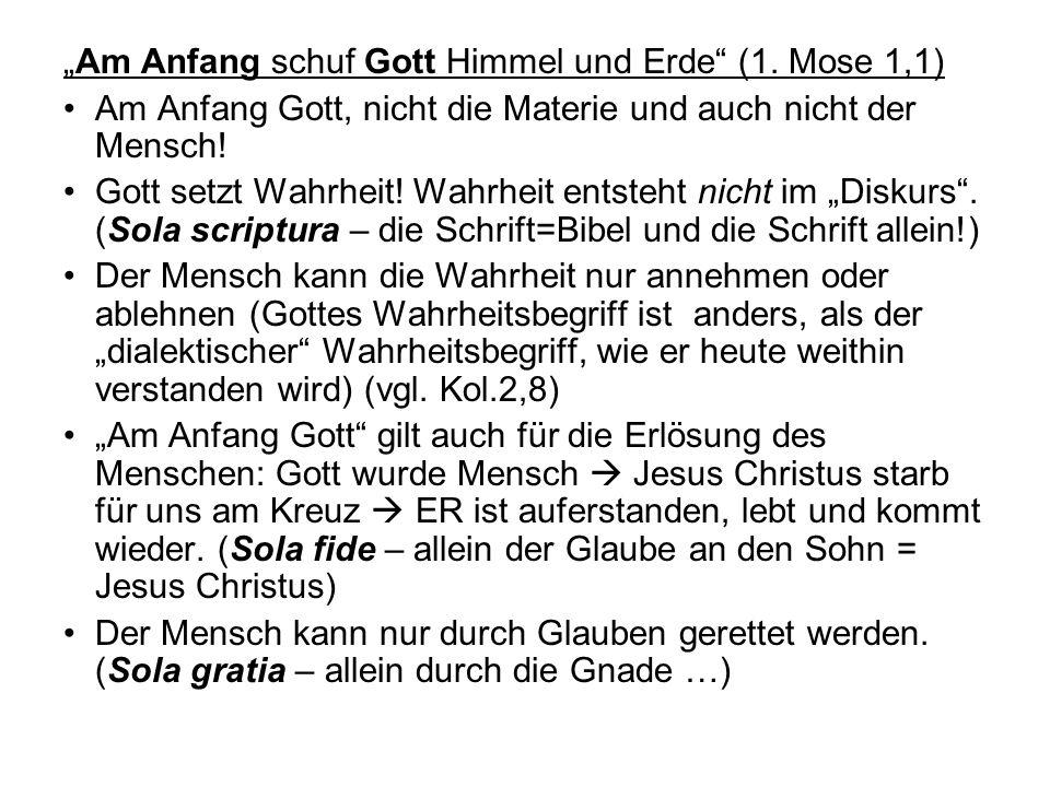 """""""Am Anfang schuf Gott Himmel und Erde (1."""