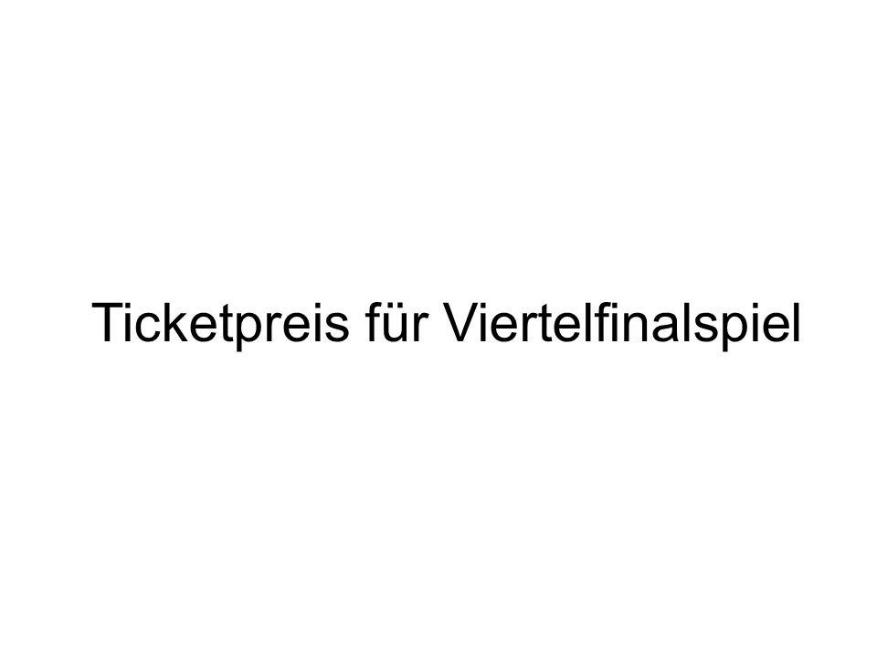 Ticketpreis für Viertelfinalspiel