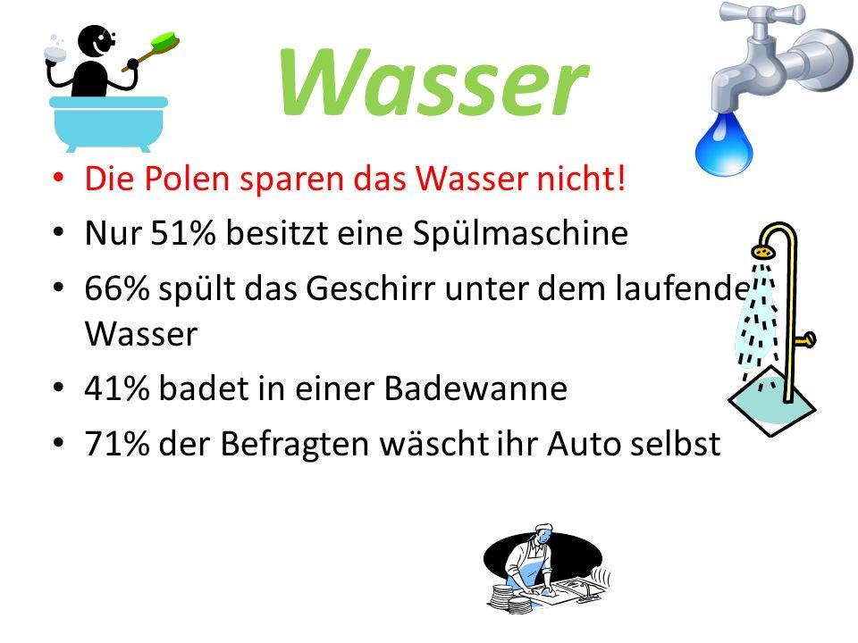 Wasser Die Polen sparen das Wasser nicht.