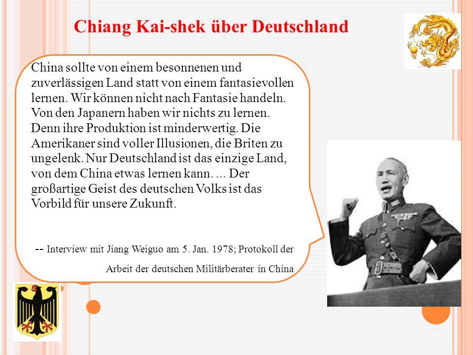 China sollte von einem besonnenen und zuverlässigen Land statt von einem fantasievollen lernen. Wir können nicht nach Fantasie handeln. Von den Japane