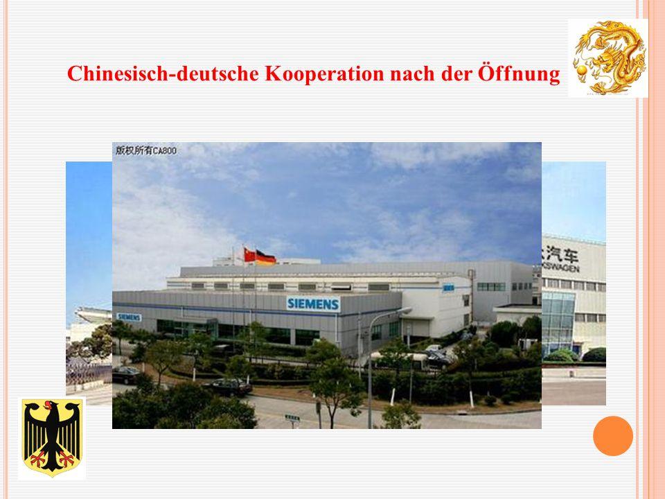Chinesisch-deutsche Kooperation nach der Öffnung