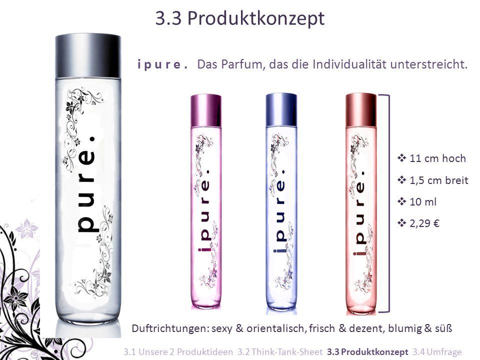 i p u r e. Das Parfum, das die Individualität unterstreicht.