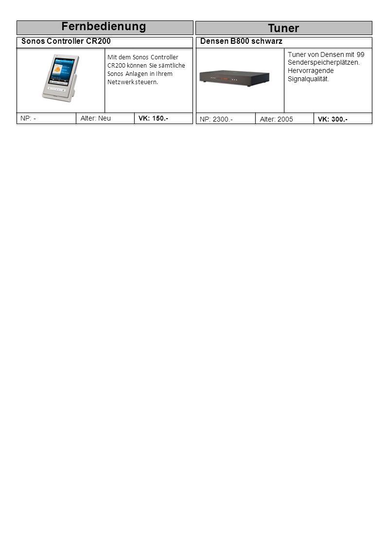 Densen B800 schwarz Alter: 2005NP: 2300.-VK: 300.- Tuner von Densen mit 99 Senderspeicherplätzen.