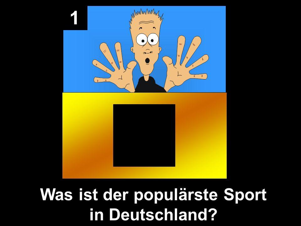1 Fußball ist der populärste Sport Home