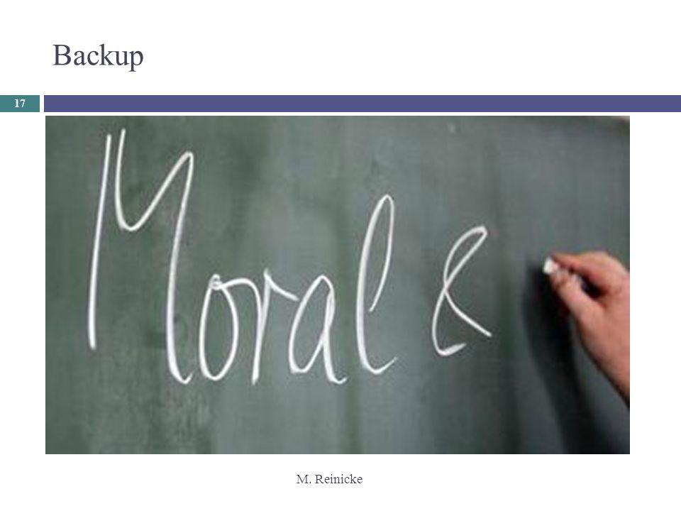 M. Reinicke 17 Backup