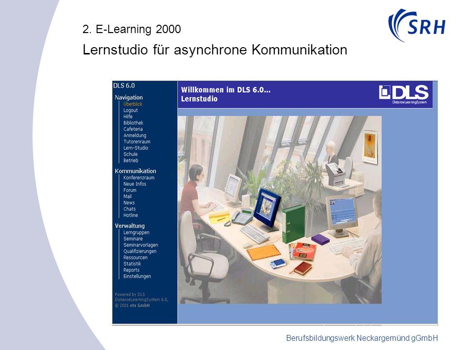 Berufsbildungswerk Neckargemünd gGmbH 2. E-Learning 2000 Lernstudio für asynchrone Kommunikation