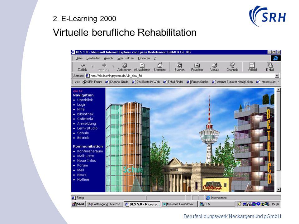 Berufsbildungswerk Neckargemünd gGmbH 2. E-Learning 2000 Virtuelle berufliche Rehabilitation