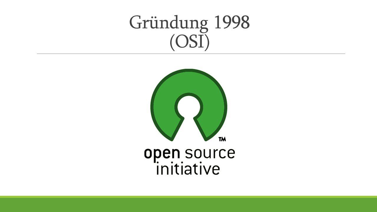 Gründung 1998 (OSI)