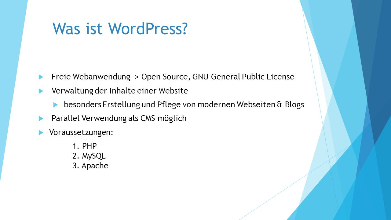 Was ist WordPress.