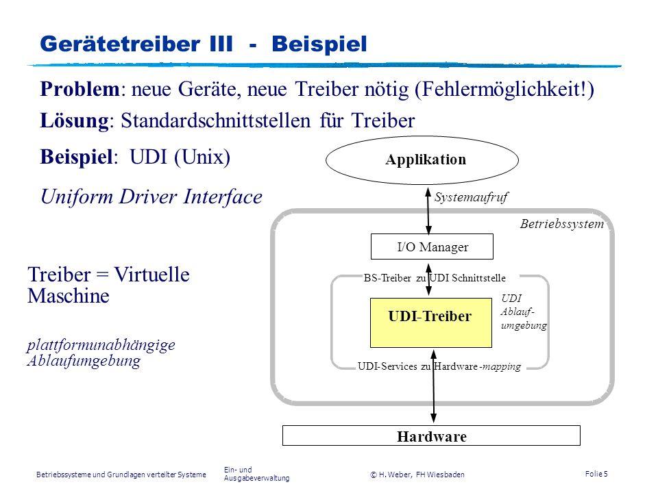 Betriebssysteme und Grundlagen verteilter Systeme © H.