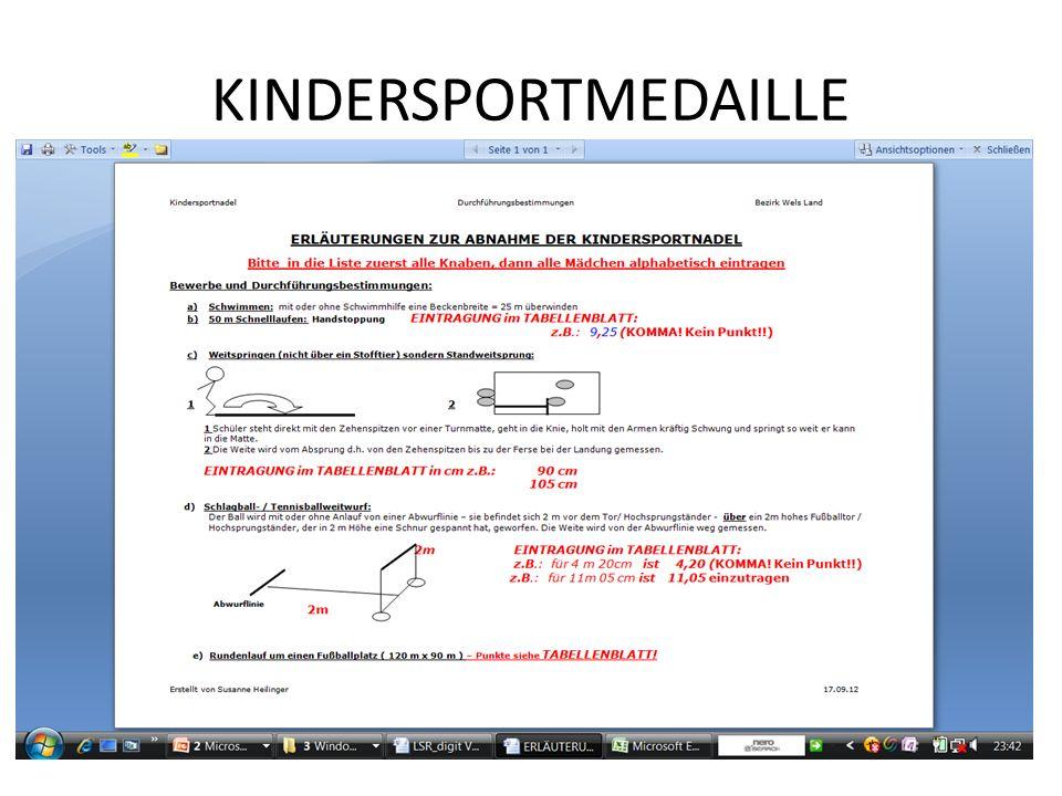 KINDERSPORTMEDAILLE