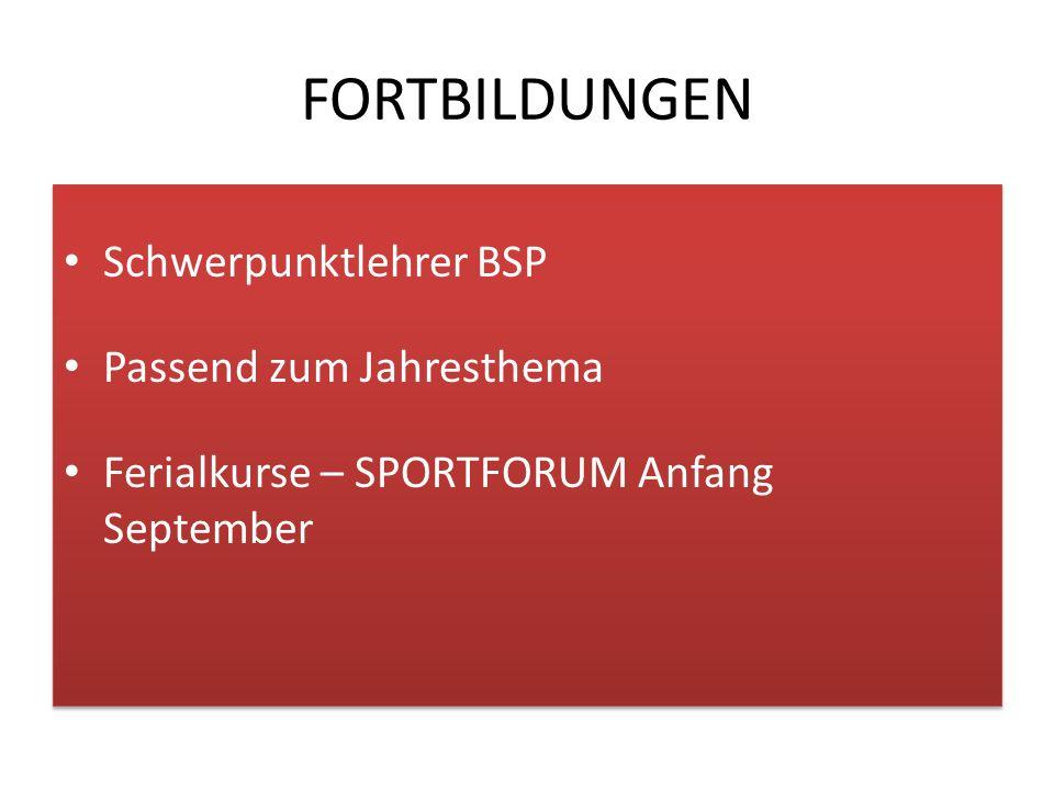 """""""Schwerpunktlehrer für Bewegung & Sport an Volksschulen  Empfehlungen für OÖ aus dem Rechnungshofbericht vom Sept."""