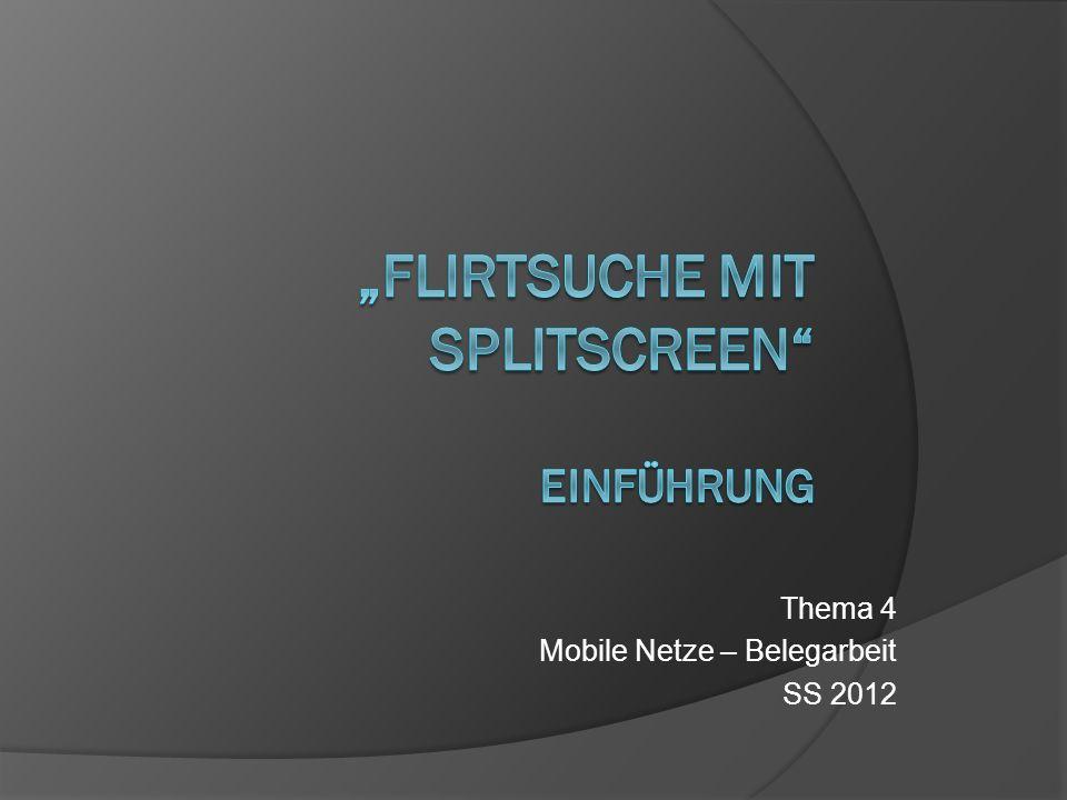 Thema 4 Mobile Netze – Belegarbeit SS 2012