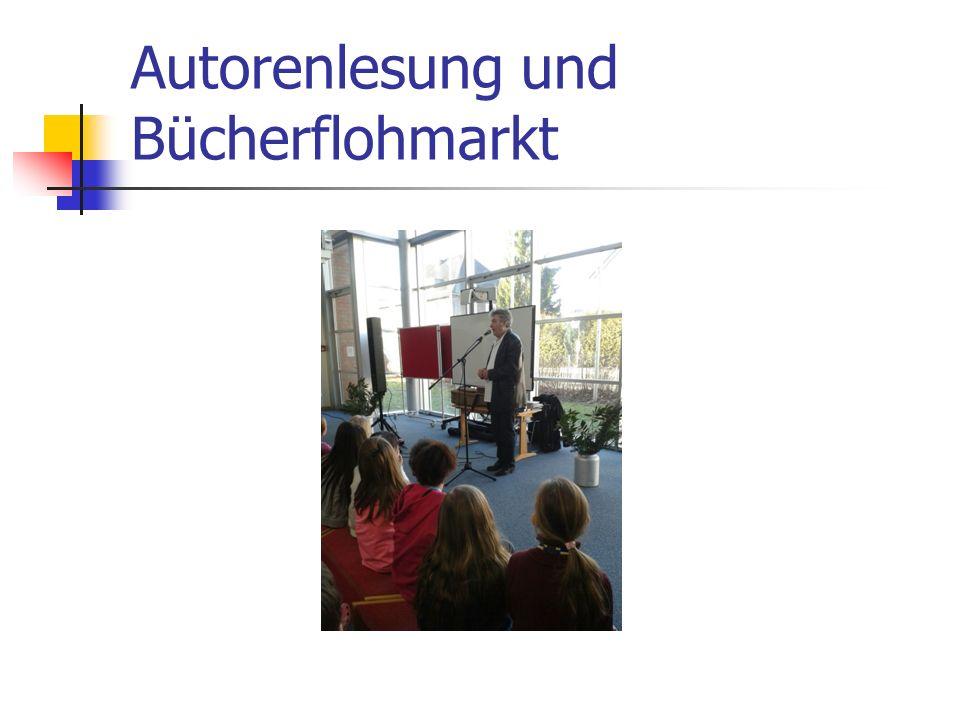 Autorenlesung und Bücherflohmarkt