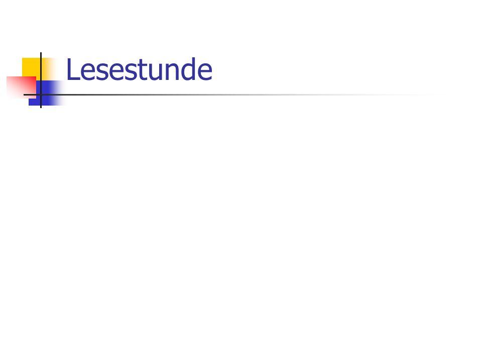 Lesestunde