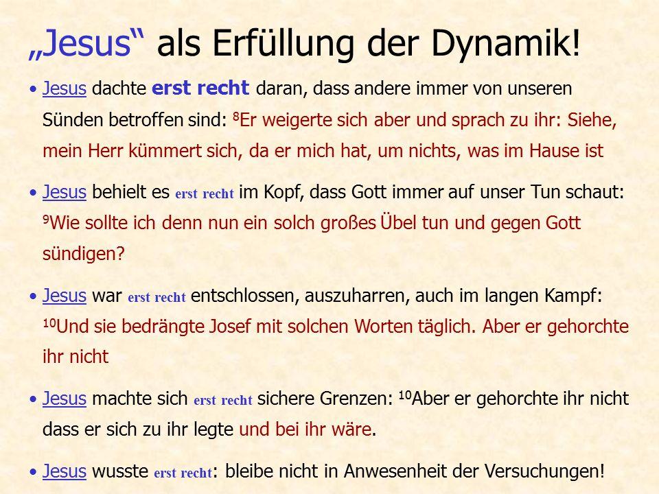 """Einfach """"Jesus überall einsetzen."""