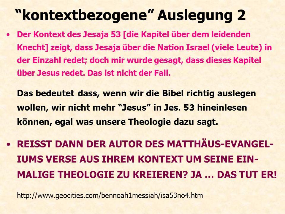"""1. Missionare und Anti-Missionare """"Ich könnte ein ganzes Buch darüber schreiben, und zeigen wie das Neue Testament Verse aus dem Kon- text reisst... D"""