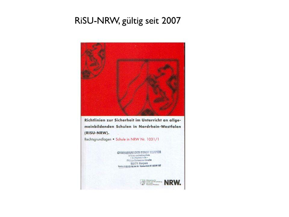 RiSU-NRW, gültig seit 2007