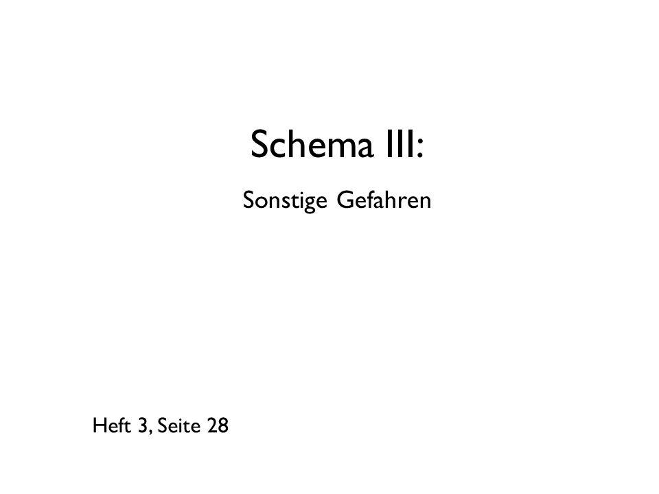 Schema III: Sonstige Gefahren Heft 3, Seite 28