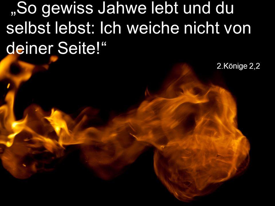"""2.Könige 2,2 """"So gewiss Jahwe lebt und du selbst lebst: Ich weiche nicht von deiner Seite!"""