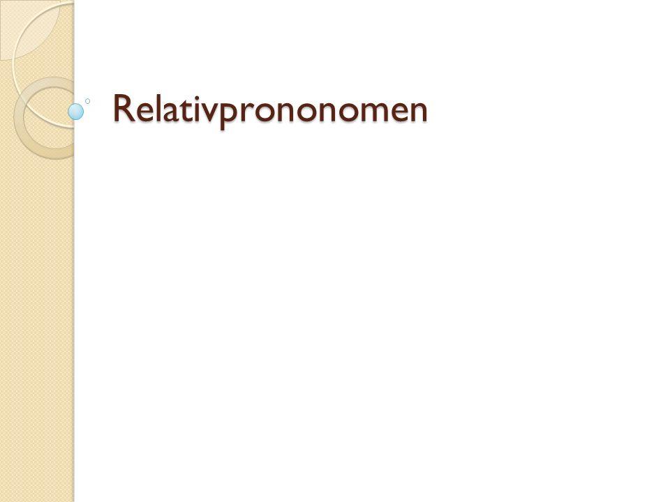 Relativprononomen