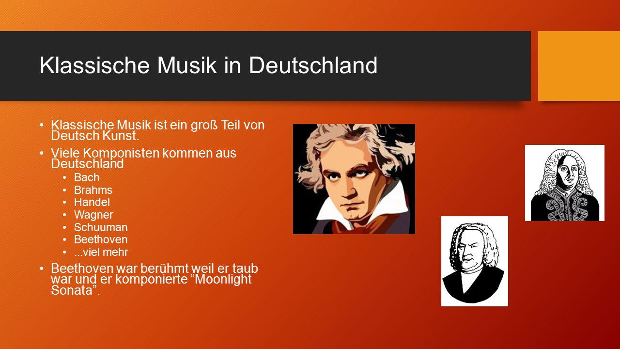 Klassische Musik in Deutschland Klassische Musik ist ein groß Teil von Deutsch Kunst.