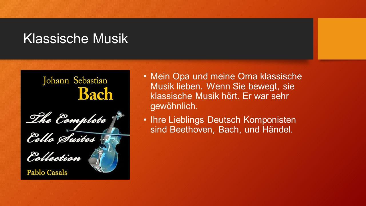 Klassische Musik Mein Opa und meine Oma klassische Musik lieben.