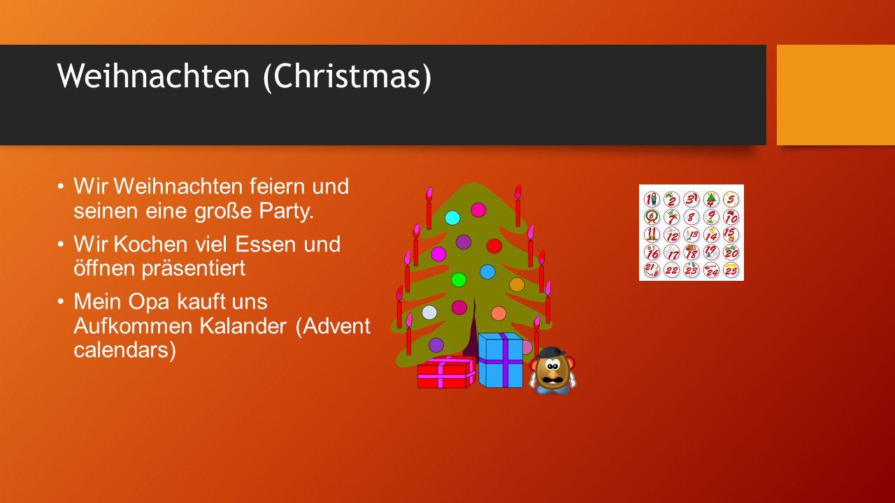 Weihnachten (Christmas) Wir Weihnachten feiern und seinen eine große Party.