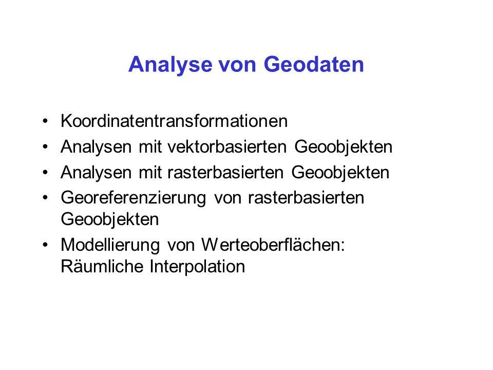Verwendung: Optimierungsprobleme im Raum Lokations-Allokations-Analysen,