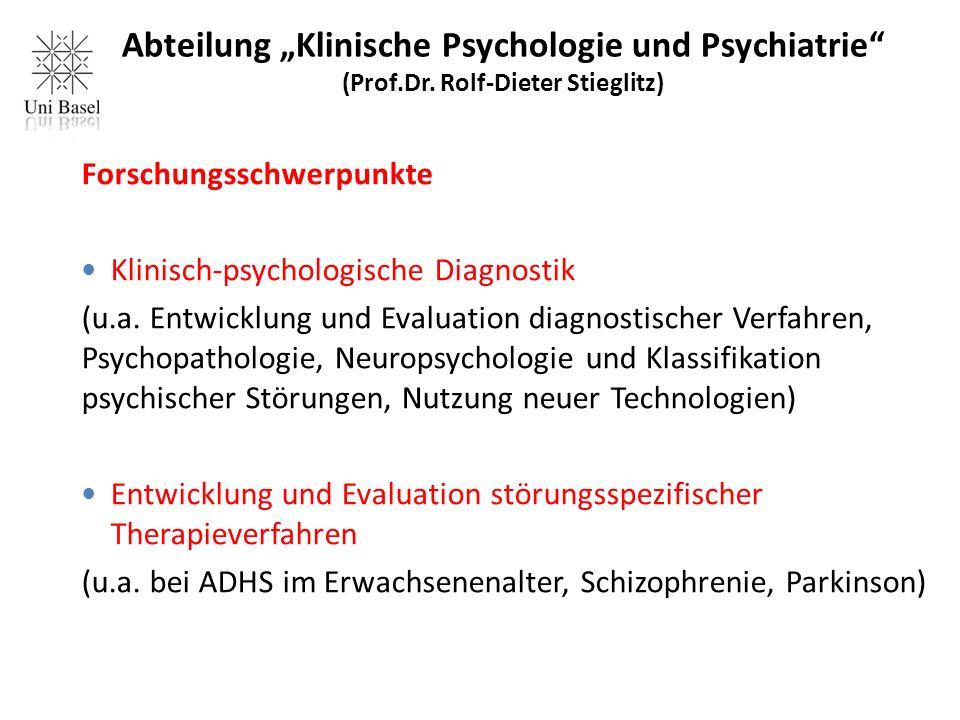 """Abteilung """"Klinische Psychologie und Psychiatrie (Prof.Dr."""