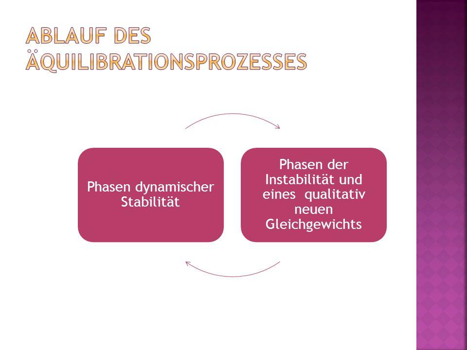 Phasen dynamischer Stabilität Phasen der Instabilität und eines qualitativ neuen Gleichgewichts