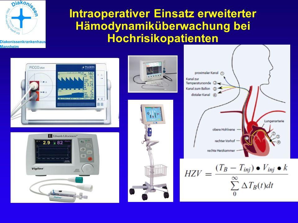 Intraoperativer Einsatz erweiterter Hämodynamiküberwachung bei Hochrisikopatienten