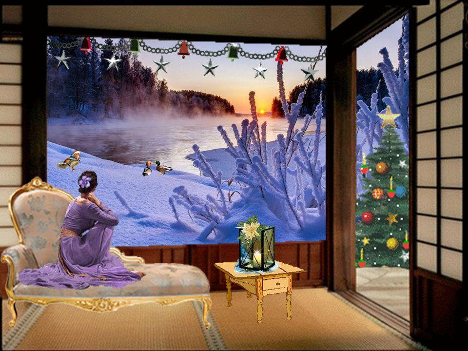 Der Baum – er glänzt im Kerzenschein, Symbol des Friedens soll er sein; gibt's ihn auch nicht das ganze Jahr, der Friedenswunsch, er werde wahr.